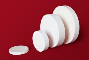 Alumina rods and disks